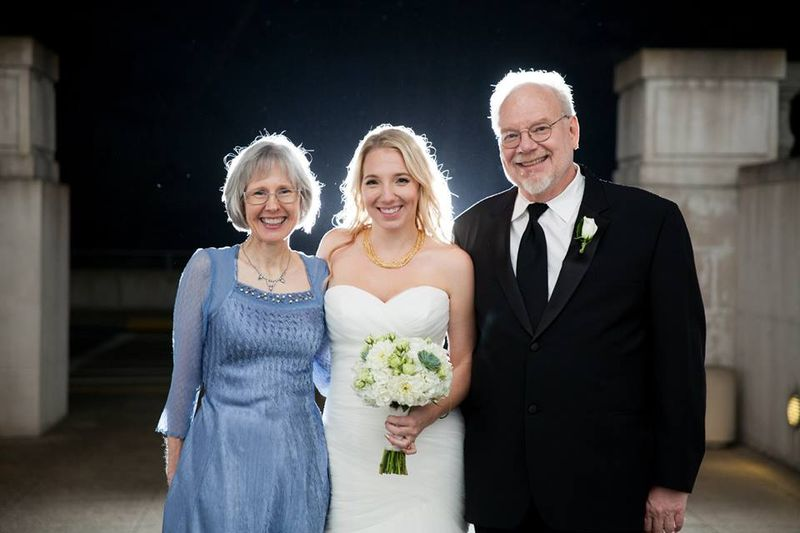Bride & her parent