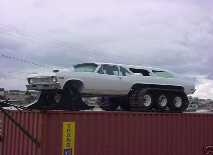 Chevy Nova Snowmobile