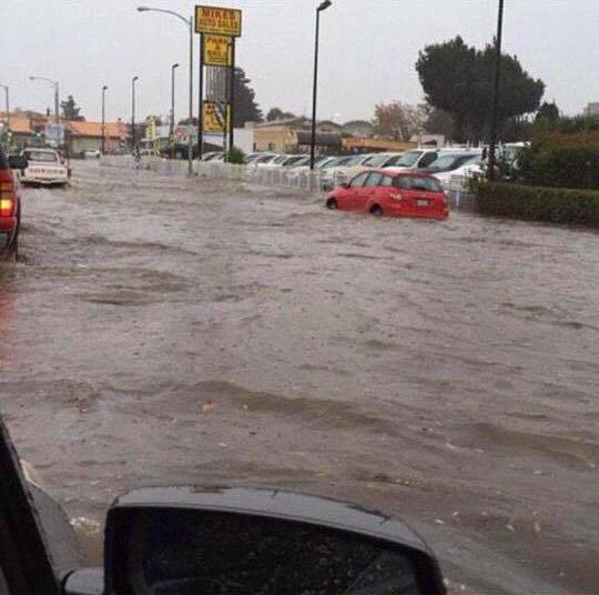 Flooding in South San Francisco