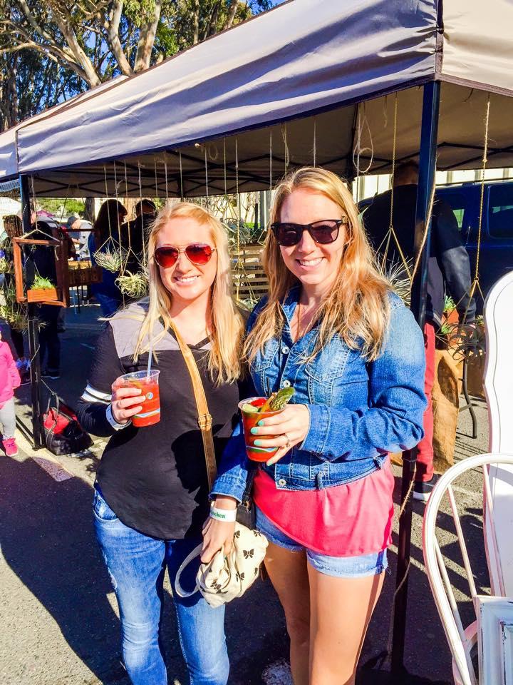 Robin with friend Katy at the Treasure Island flea market