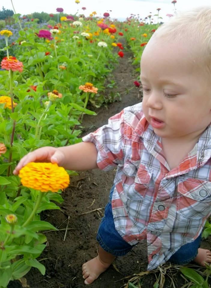 He's always loved flowers