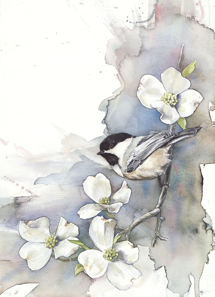 Chickadee and Dogwood, Anne Balogh