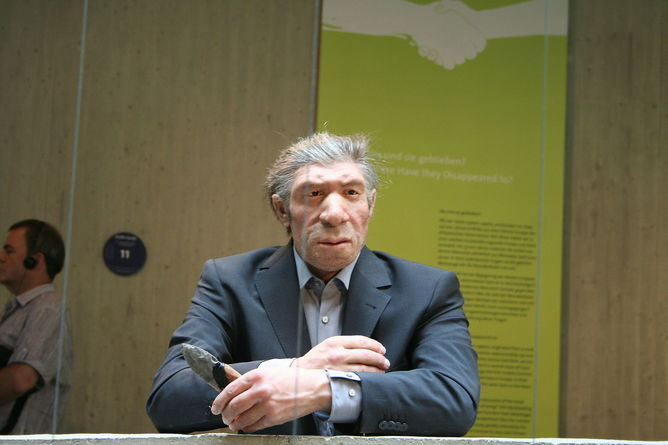 Neanderthal in suit