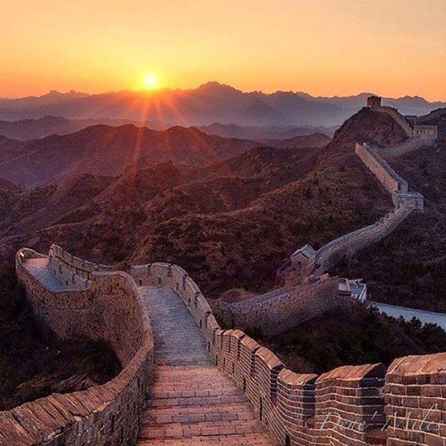 Golden Hour at The Great Wall, China