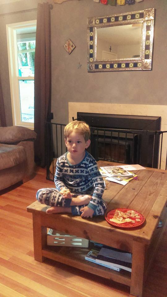 Cold pizza and Thomas The Train