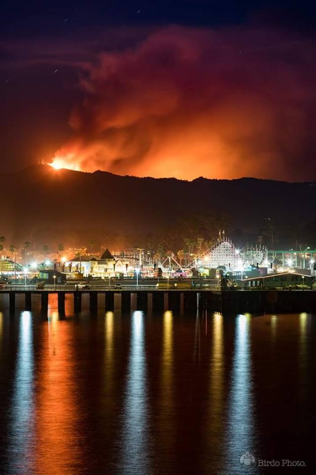Late season fire in Santa Cruz Mountains