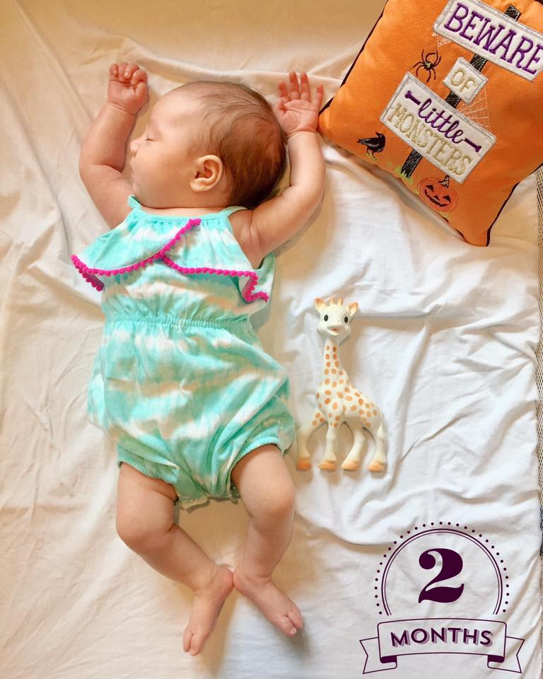 Kinsley at two months