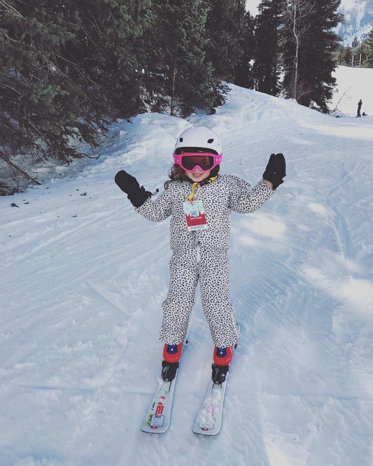 Ramona on skis
