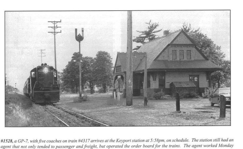 Train station in Keyport