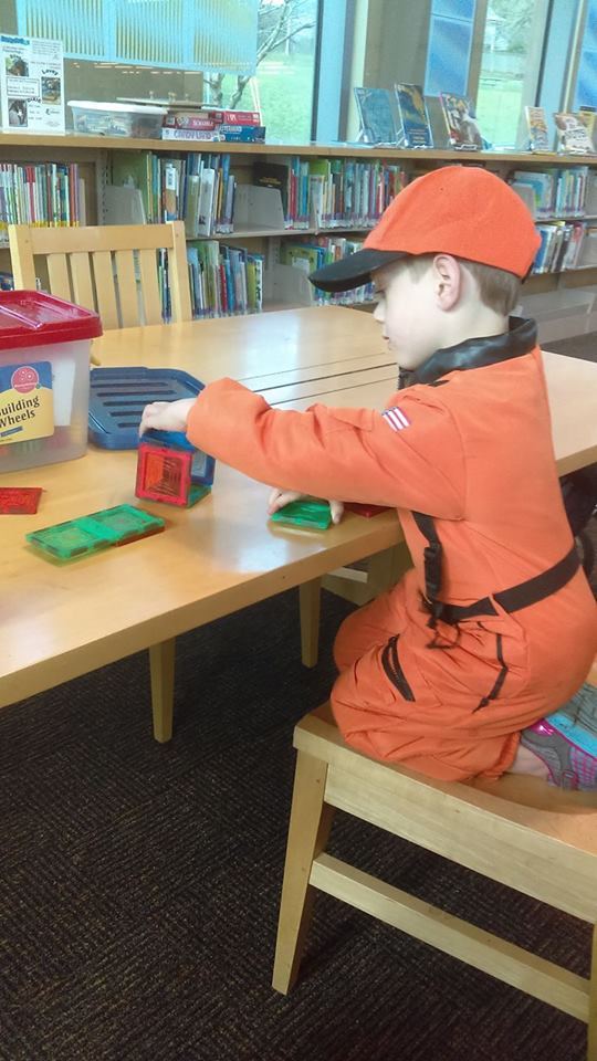 Magnetic blocks, at the library