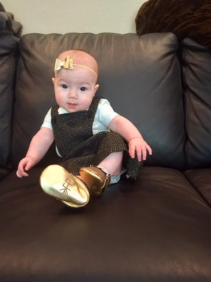 In her golden shoes 1