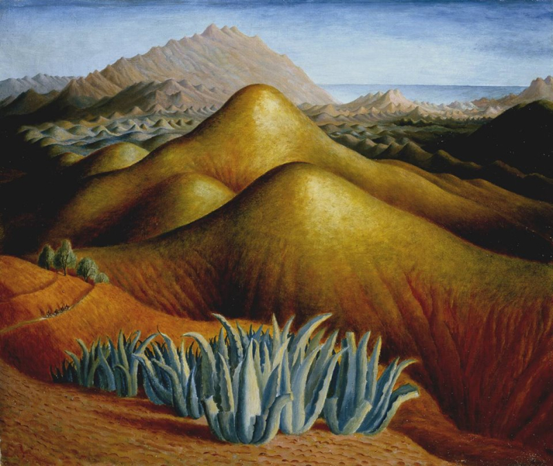 'Spanish Landscape with Mountains' by Dora Carrington