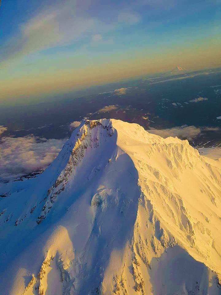 The top of Mount Hood