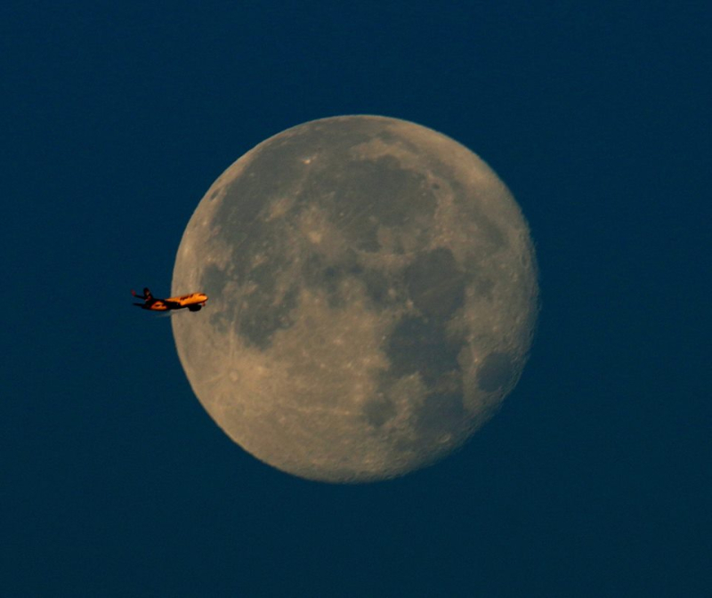 Full moon over Keyport