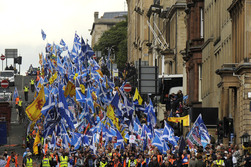 Scots march for independence