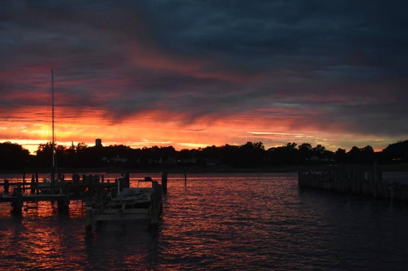 Sunset in Keyport  6-8-17