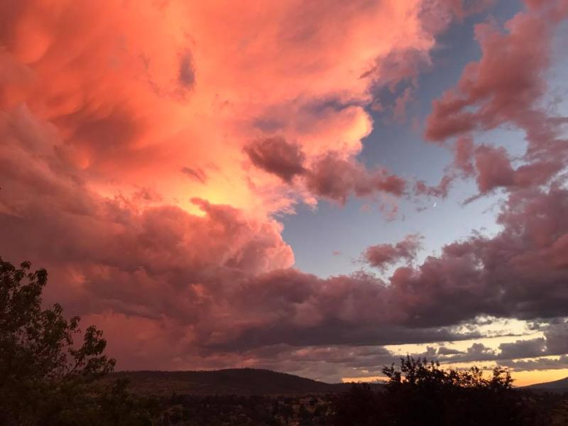Summer thunderhead  Klamath Falls