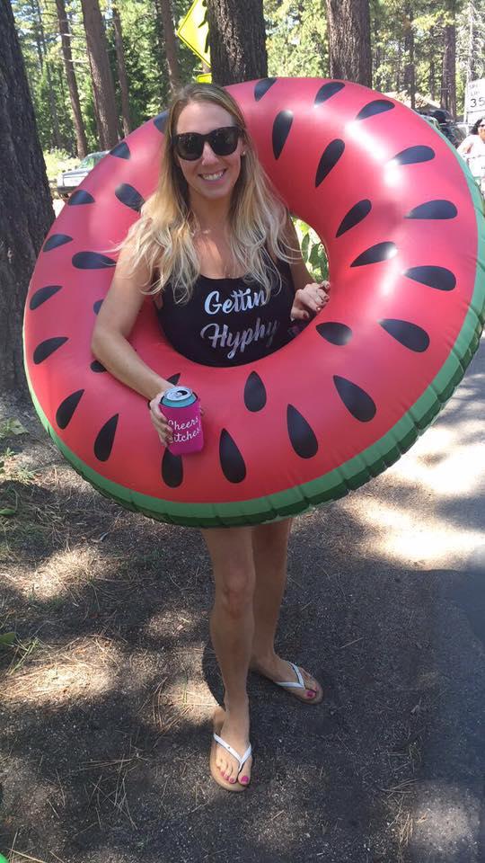 Inside the watermelon