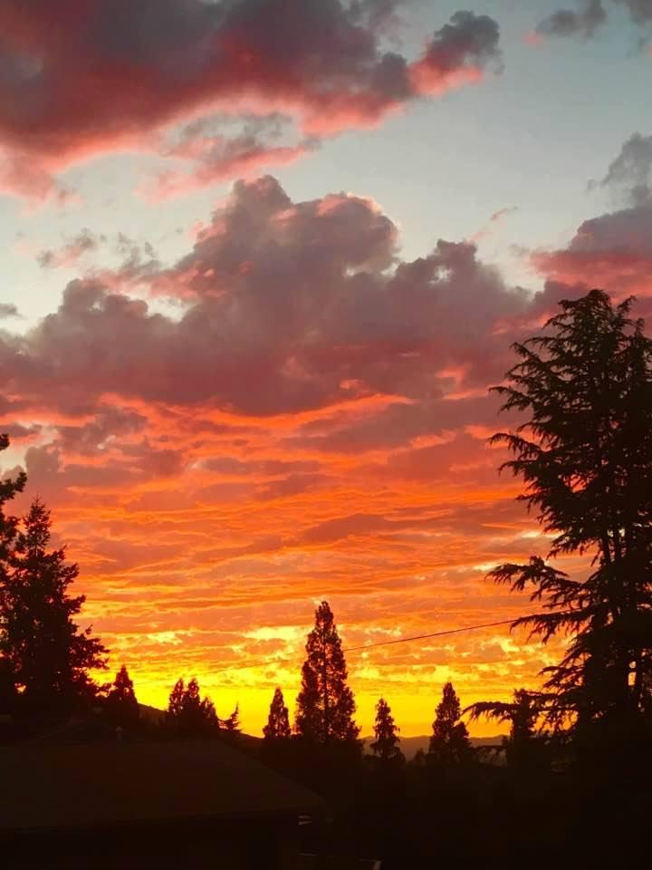 Sunset  Ashland  Oregon