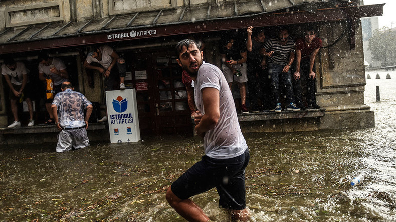 Rain and hail pound Istanbul