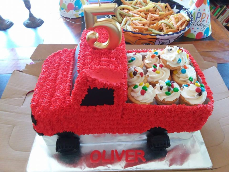 Oliver's birthday cake  made to his specifications