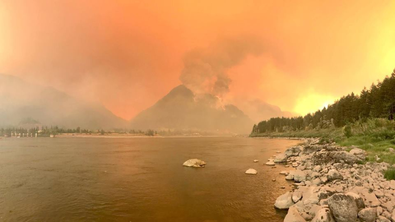 Fire along the river