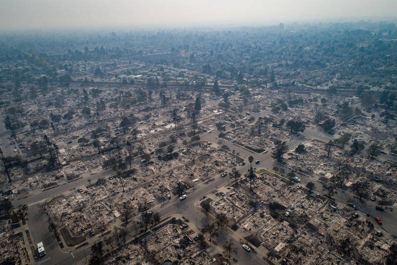 Entire California neighborhood destroyed