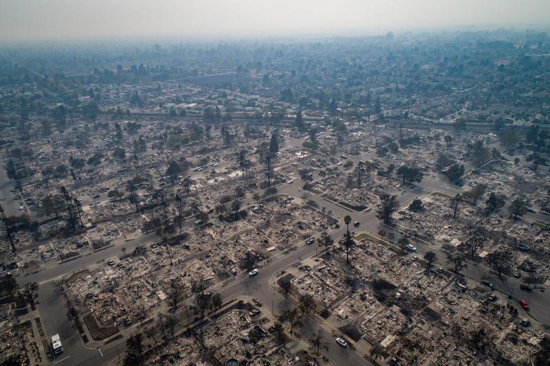 Entire California neighborhood destroyed