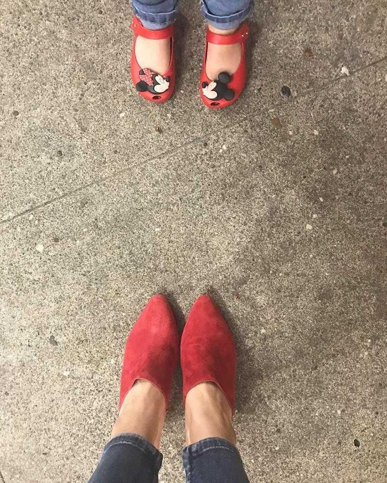 Ramona's feet and Ramona's mommy's feet