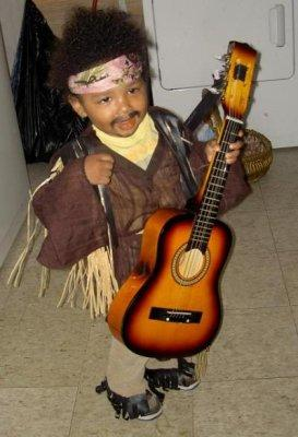Child as Jimi Hendrix