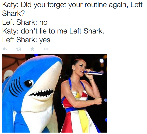 Left Shark and Katy