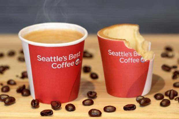 Edible coffee cup at KFC