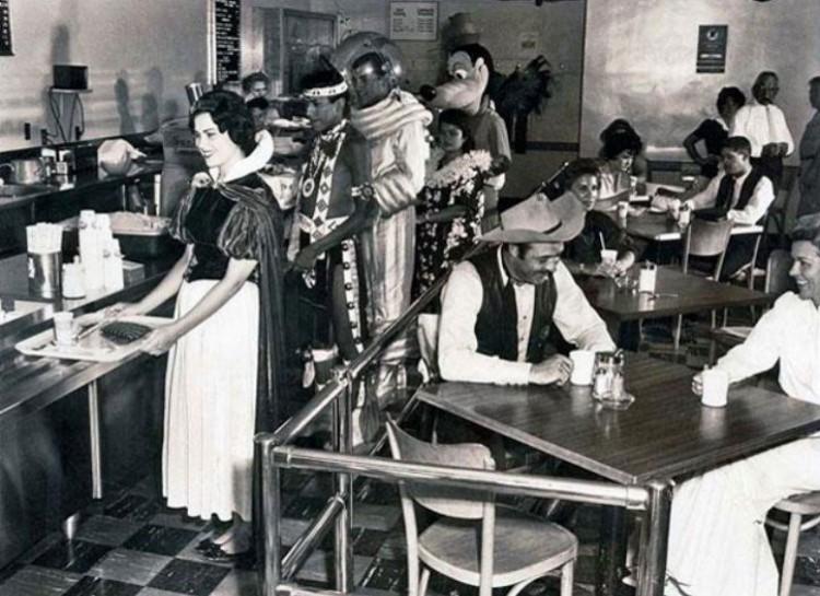 Employee cafeteria, Disneyland, 1961