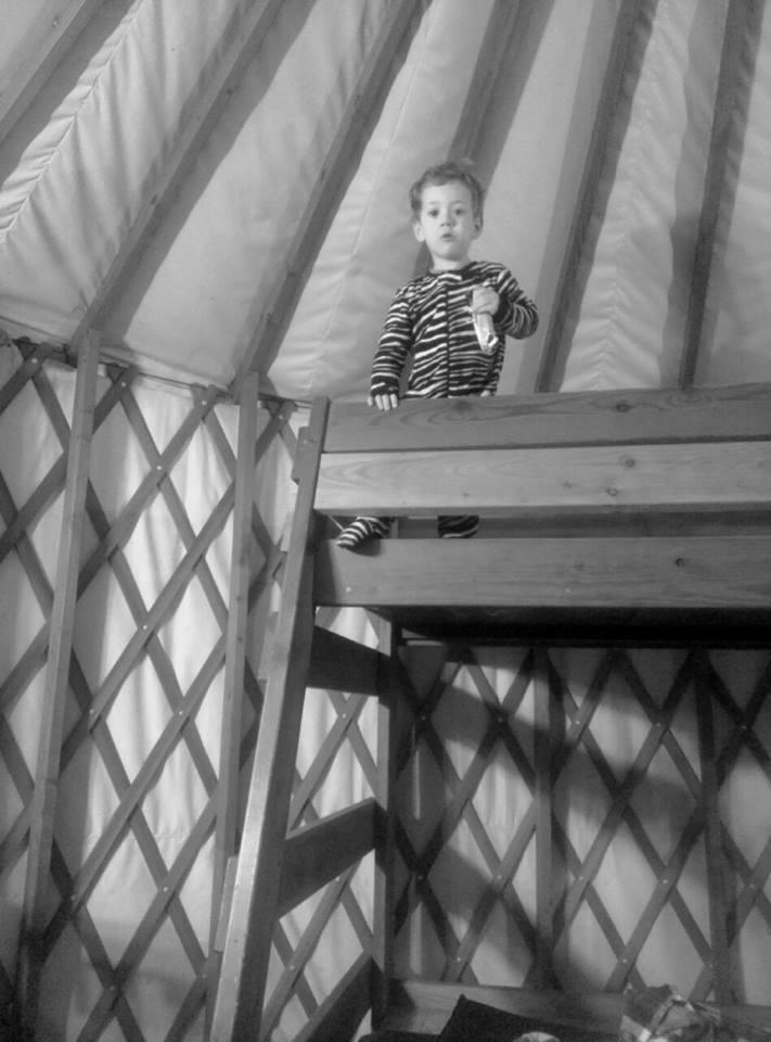 In a yurt