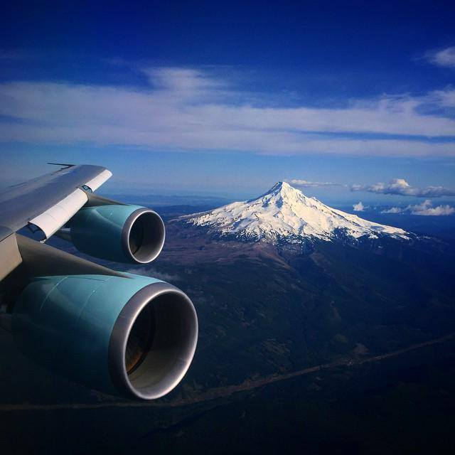 Mount Hood from Air Force One yesterday