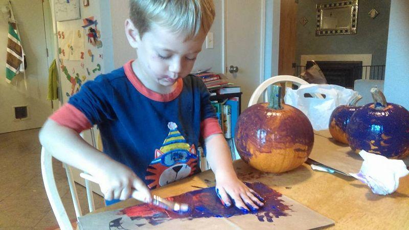 Decorating pumpkins 2