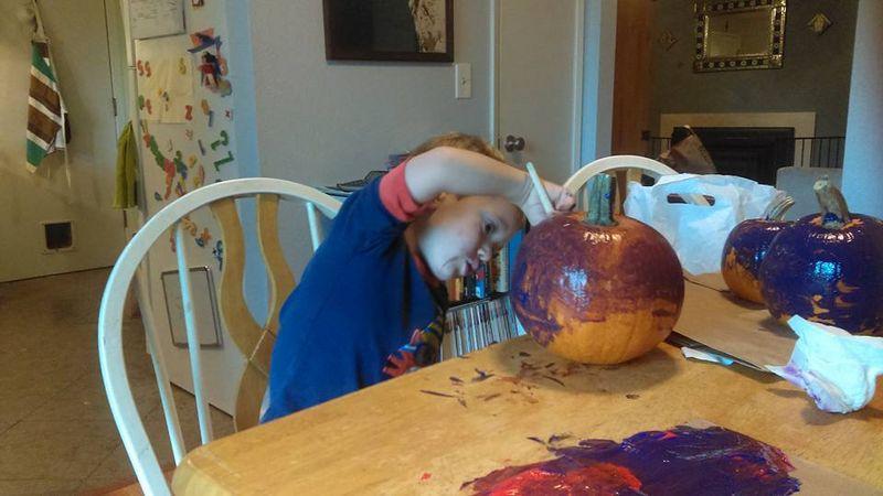 Decorating pumpkins 3
