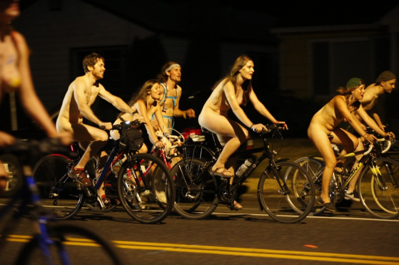 Naked Bike Ride, Portland 2016