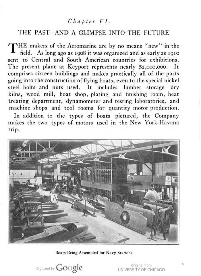 Navy planes being made at Aeromarine.