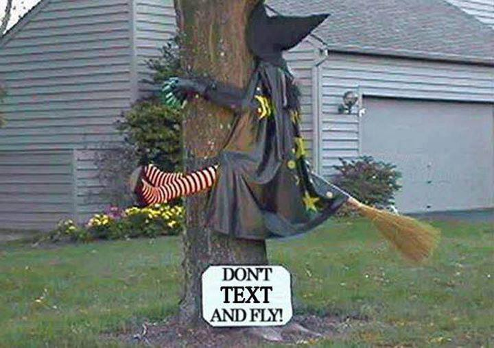 Don't text and fly