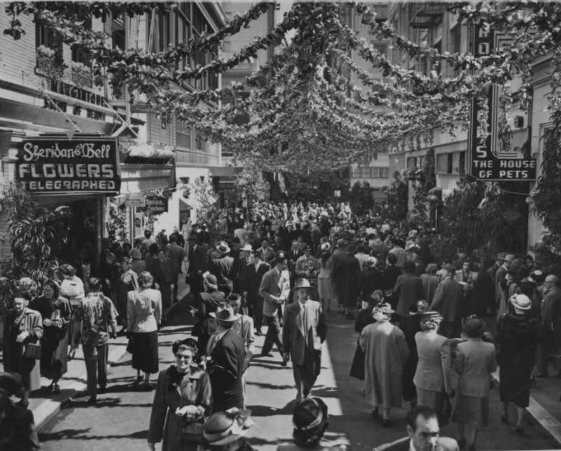 Maiden Lane, San Francisco, March 30, 1950