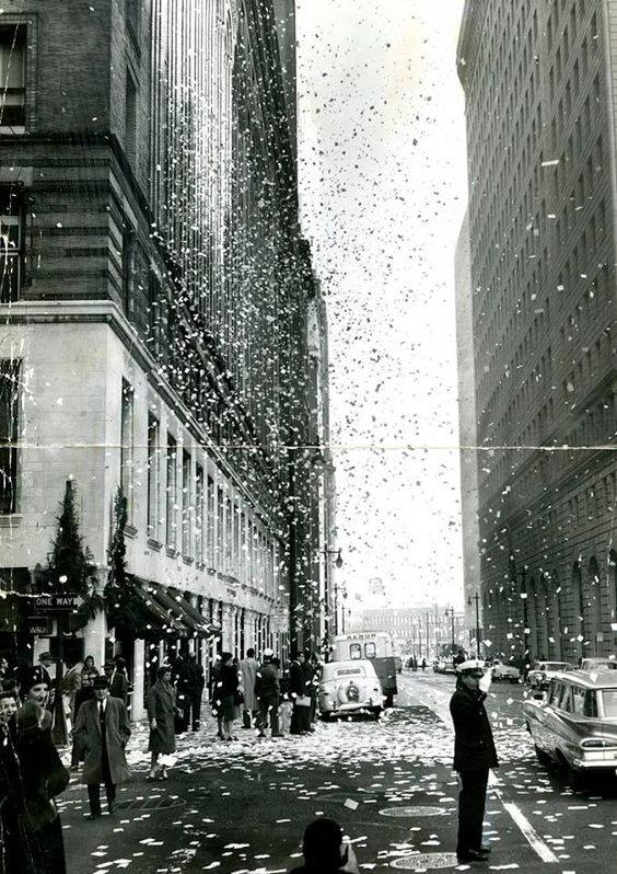New Year's Eve, 1960. Bush at Montgomery Streets, SF