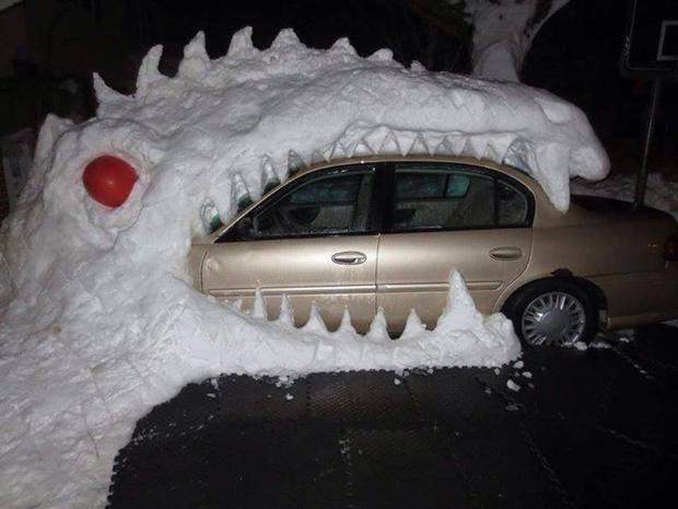 Snow eating car