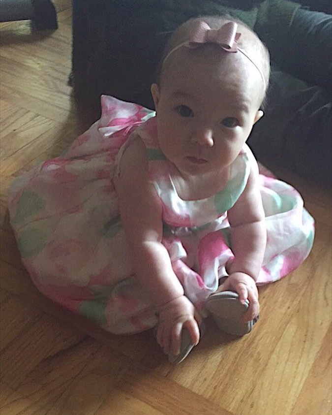 Her Easter dress