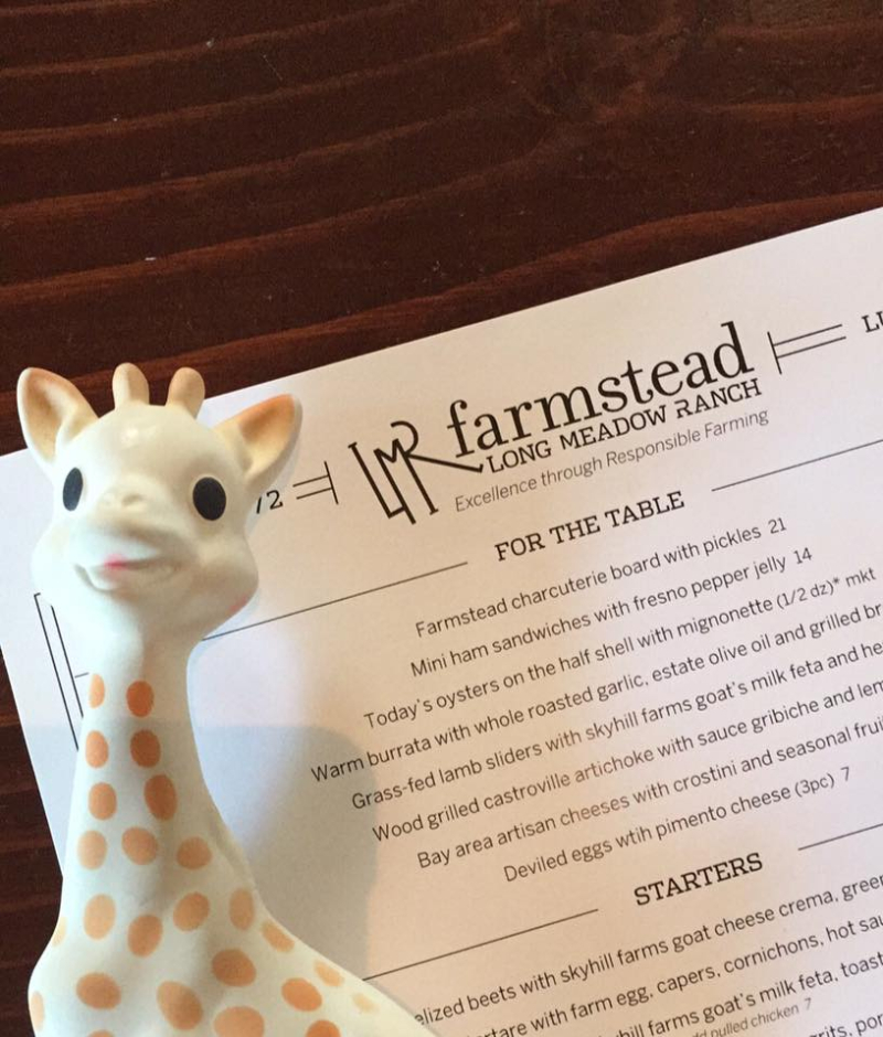 Giraffe likes the menu