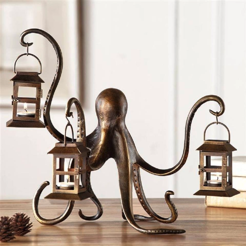 Octopus candle holders
