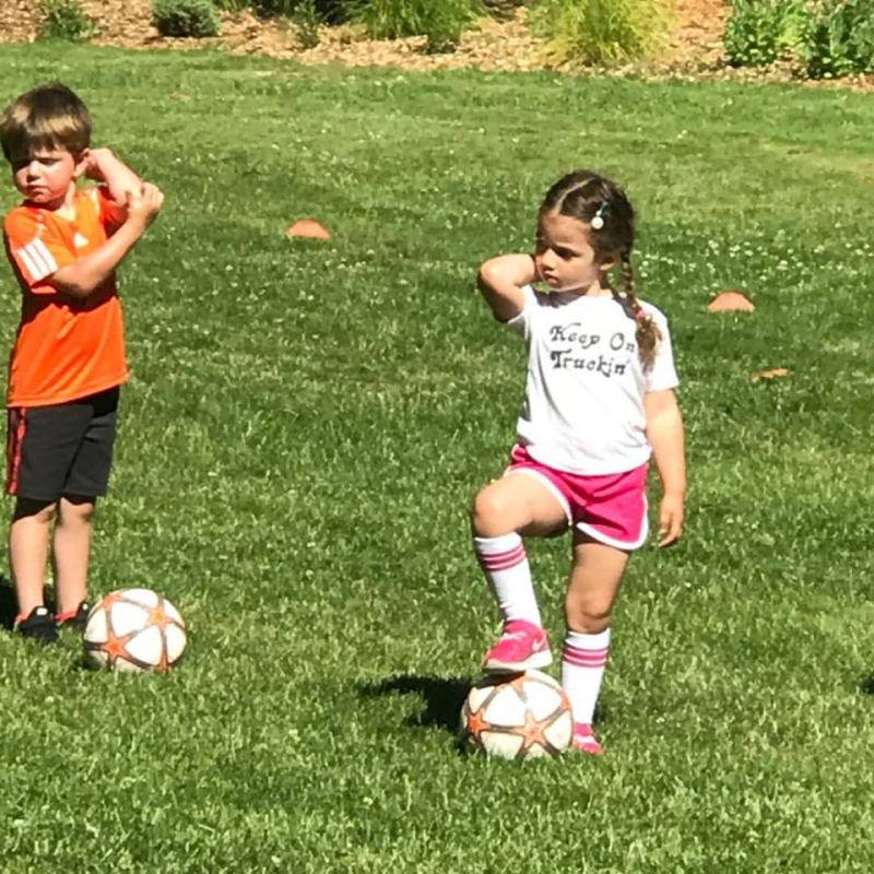 First day of soccer practice