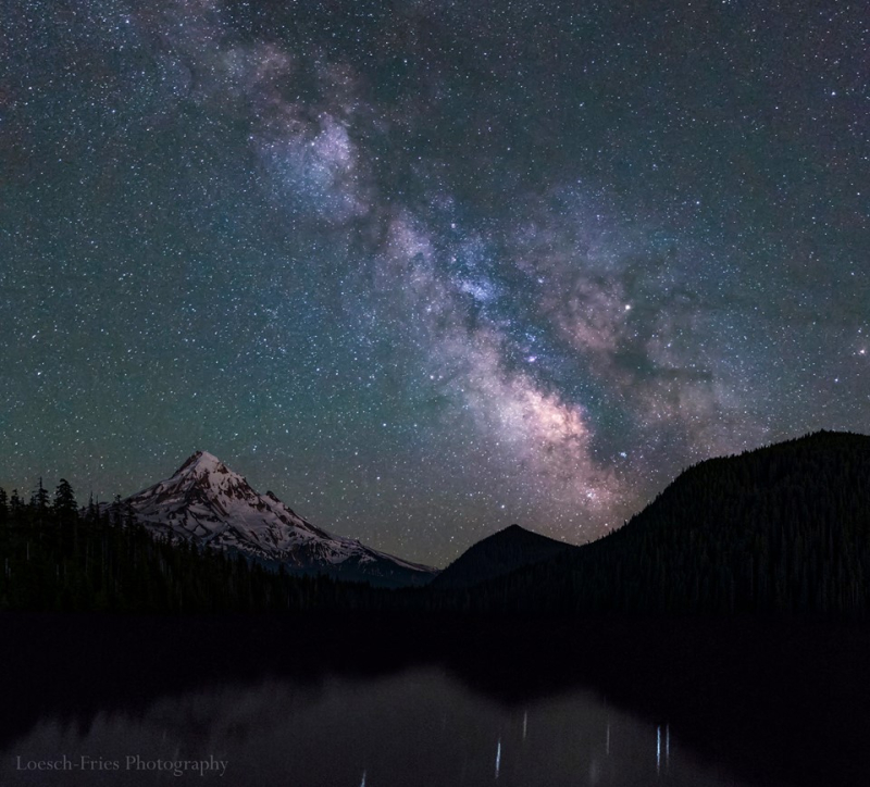 Milky Way over Mount Hood at Lost Lake