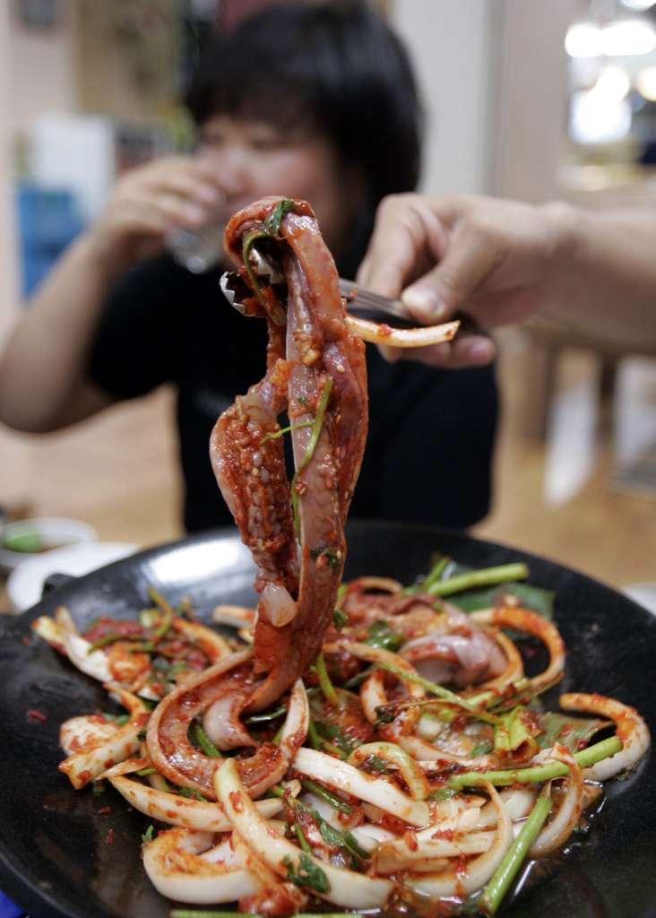 Slime eels in Korea