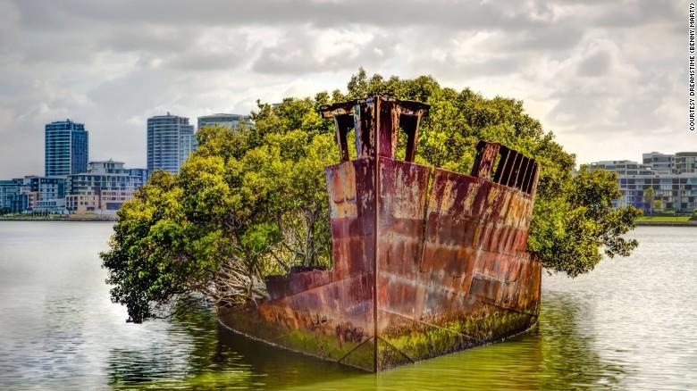 Abandoned ship near Sydney  Australia